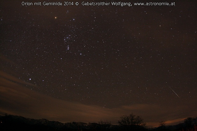 - Geminid mit Orion, Hits: 1154 © image-owner (scaled: 640x427)