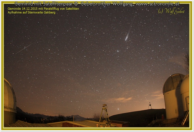 Geminid mit Satellit, Hits: 1348 © image-owner (scaled: 640x436)