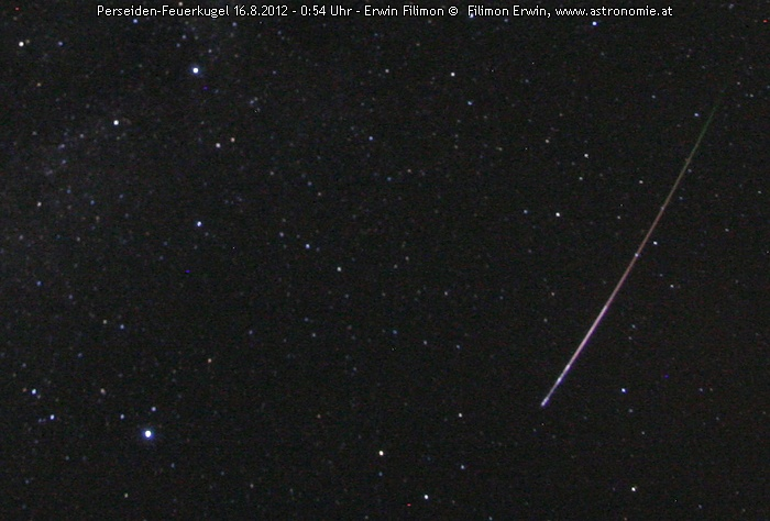 Solar System-Perseid 16.8. - 0h54 © image-owner(s)